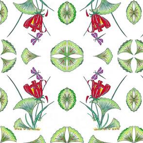 ginkgo leaf tropical floral