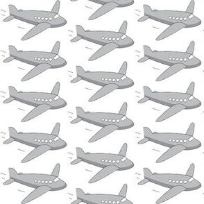 grey airplanes