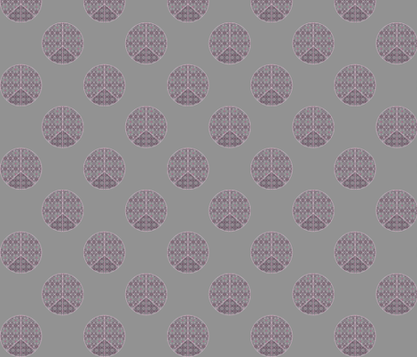 Peace in girly grey fabric by twigsandblossoms on Spoonflower - custom fabric