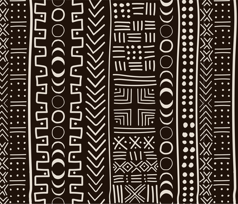 Mudcloth Eclipse fabric by monicaanndesign on Spoonflower - custom fabric