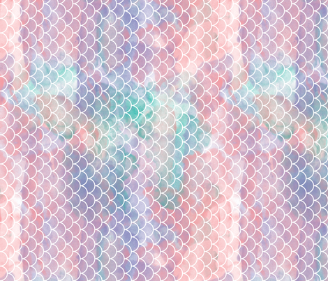 watercolor mermaid scales rotated fabric by xtinew on Spoonflower - custom fabric