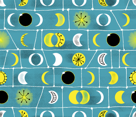 Eclipse mid century style fabric by vinpauld on Spoonflower - custom fabric