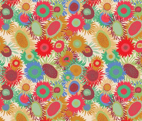 Sunflower Field fabric by jvasquez on Spoonflower - custom fabric
