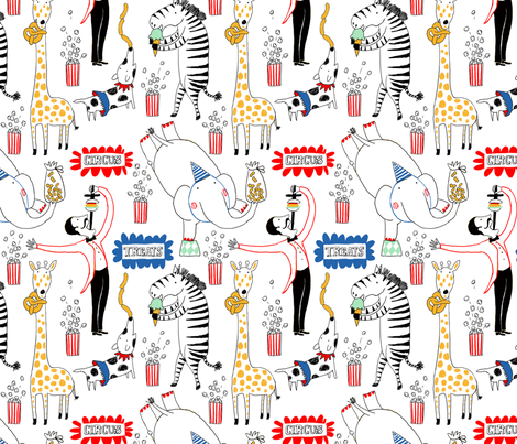 CIRCUS TREATS fabric by nadinewestcott on Spoonflower - custom fabric