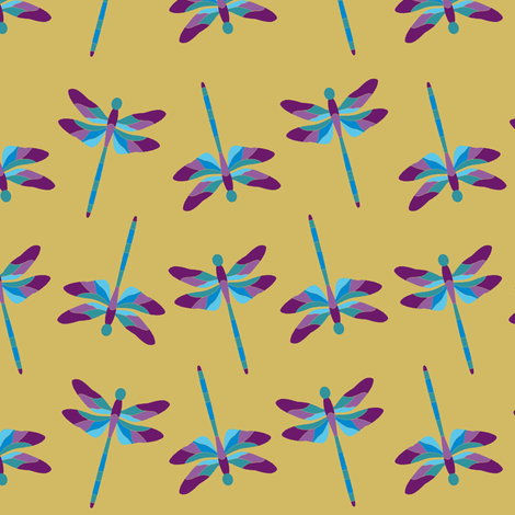 Dragonfly 1g Purple Blue fabric by karwilbedesigns on Spoonflower - custom fabric