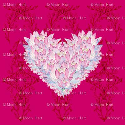Lotus Heart Halfdrop
