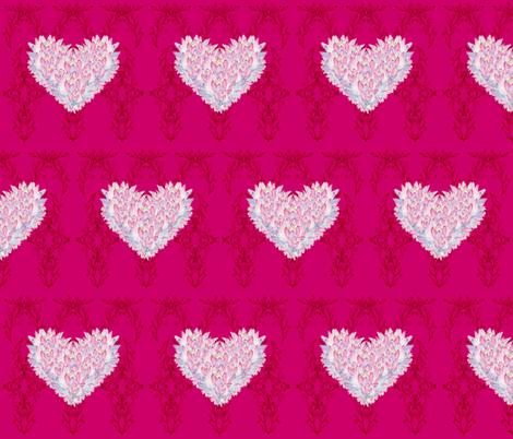 Lotus Heart Halfdrop fabric by moon_hart on Spoonflower - custom fabric