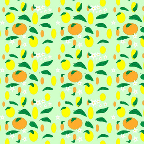 Citrus_fruit_and_flowers_on__mint