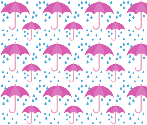 Rainy Days fabric by thepinkhome on Spoonflower - custom fabric