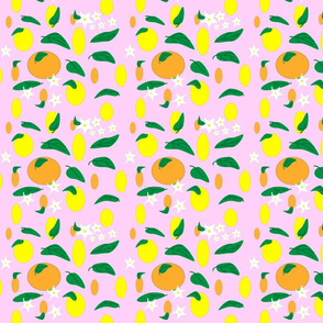 Citrus_fruit_and_flowers_on__pink