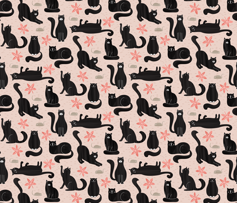Cool Cats fabric by studiocarrie on Spoonflower - custom fabric