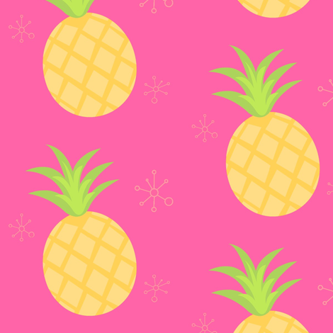 Pineapples fabric by thepinkhome on Spoonflower - custom fabric