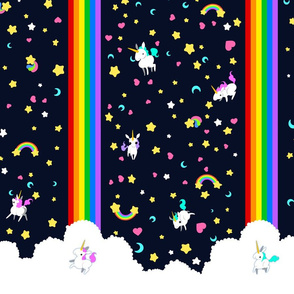 Unicorns Rainbow 2