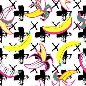 "8"" Going Bananas - Pink & Green w/ Black Geo"