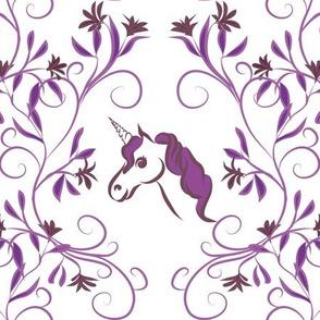 Unicorn damask