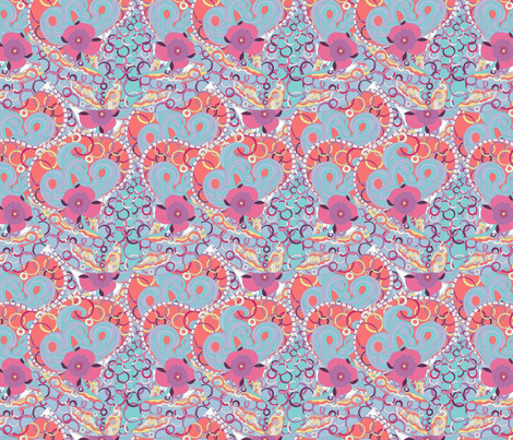 Abstract flowers fabric by argunika on Spoonflower - custom fabric