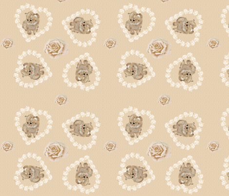 Hearty kitten fabric by lausche-design on Spoonflower - custom fabric
