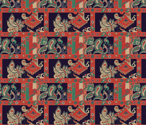 Ethnic boho ornament fabric by argunika on Spoonflower - custom fabric