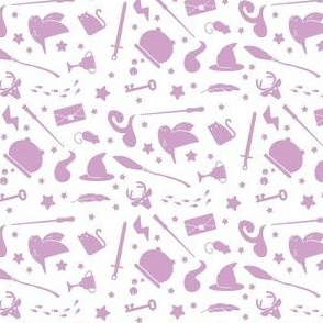 Wizardry - Purple on White