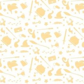Wizardry - Yellow on White