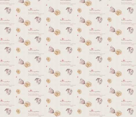Chaton_tr_s_sympathique fabric by lausche-design on Spoonflower - custom fabric