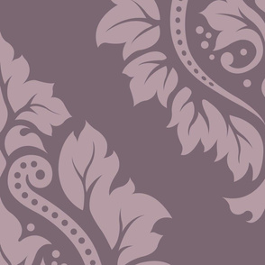 Decorative Damask Pattern Lt on Mid Mauve