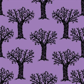 Halloween tree spooky forest by andrea lauren purple