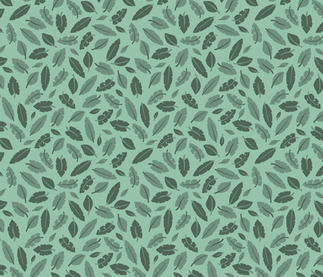 jungle leaves fabric by desi_draws on Spoonflower - custom fabric