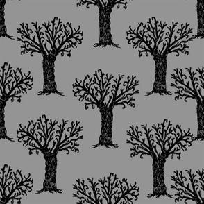 Halloween tree spooky forest by andrea lauren grey