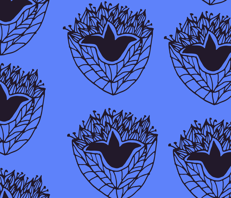 lotus fabric by burnosnata on Spoonflower - custom fabric