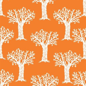Halloween tree spooky forest by andrea lauren orange and white
