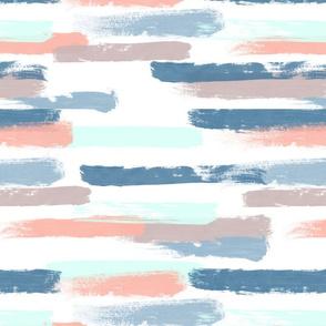 Pastel Soft Paintbrush Stripes