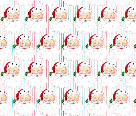 Santa fabric by susanbranch on Spoonflower - custom fabric