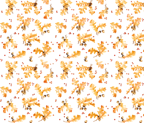 oakleaves fabric by susanbranch on Spoonflower - custom fabric