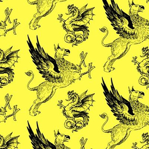 griffin and dragon yellow - potter's world