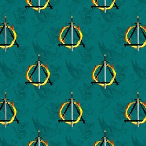 sword on fire teal - potter's world