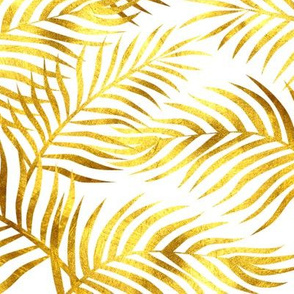 Palm Leaves: Gold - White