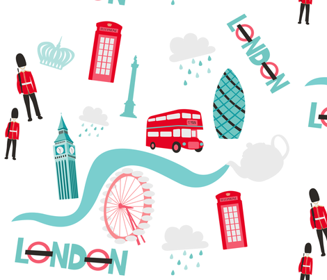 London fabric by nagorerodriguez on Spoonflower - custom fabric
