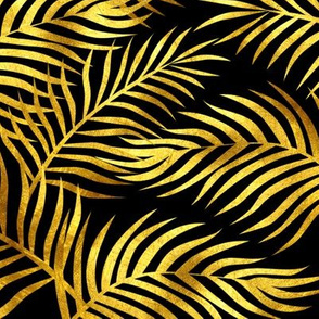 Palm Leaves: Gold-Black