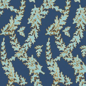 Blue and Gold Ferns