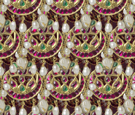 Forehead jewel, 1750 fabric by unseen_gallery_fabrics on Spoonflower - custom fabric