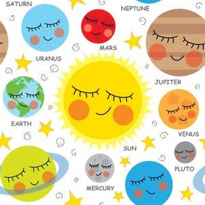 cute planets and stars