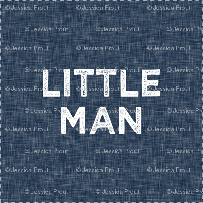 "6"" Little Man Quilt Block with cut lines"