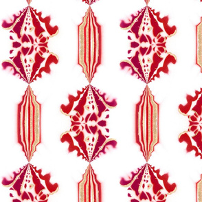 CHARLIE (medium, single) - Pearl and Maude | Rose Ruby and White Floral Stripes