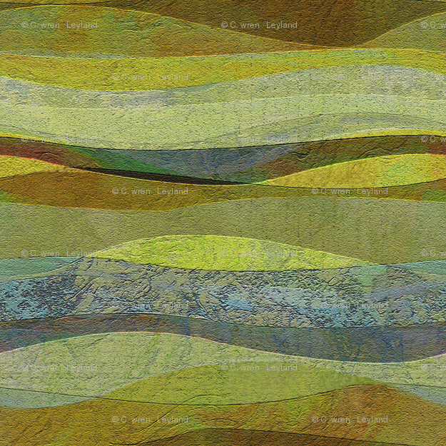 sandstone green hills fabric wrenleyland Spoonflower