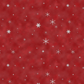 Snowflake Storm (Red)
