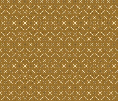 Criss cross gold  fabric by sproutz on Spoonflower - custom fabric