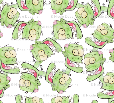Ditsy Zombie Monsters Cartoon