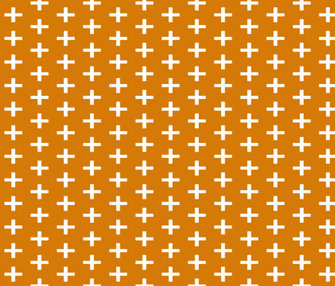 chunky_plus_orange fabric by sproutz on Spoonflower - custom fabric
