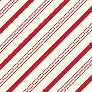 candy cane stripes - red on cream